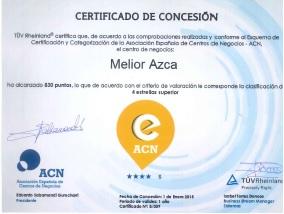 Certificado de la Asociación Española de Centros de Negocios